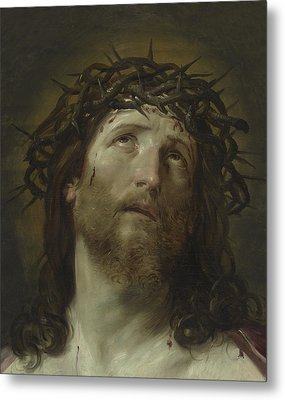 Head Of Christ Crowned With Thorns Metal Print by Guido Reni