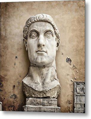 Head Of Constantine Metal Print