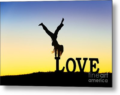 Head Over Heels In Love Metal Print by Tim Gainey