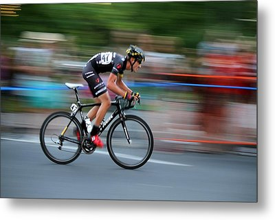 Heading For The Finish Line Metal Print