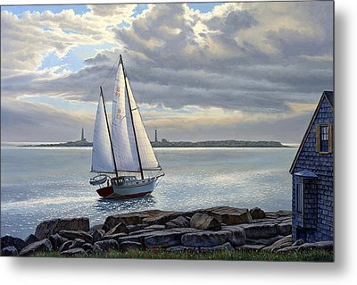 Heading Out-close Hauled     Metal Print by Paul Krapf