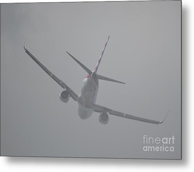 Heading Straight Into The Fog  Metal Print