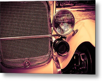 Headlight And Horn Metal Print by Bartz Johnson