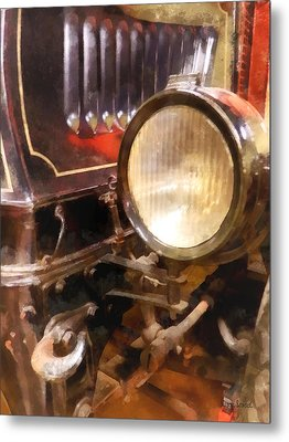 Headlight From 1917 Truck Metal Print by Susan Savad