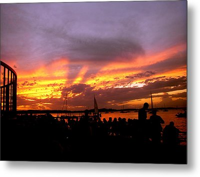Metal Print featuring the photograph Headlights Of Sunset by Zafer Gurel