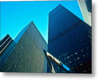 Headquarters In Midtown Manhattan Metal Print by Kellice Swaggerty