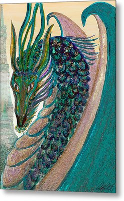 Healing Dragon Metal Print