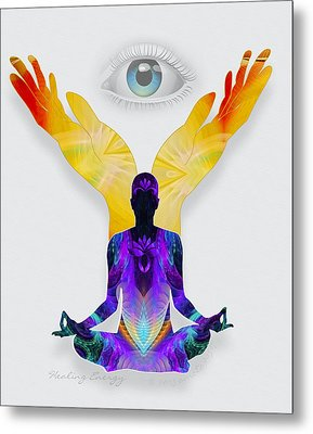 Healing Energy Metal Print by Gayle Odsather