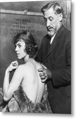 Healing For Ziegfeld Dancer Metal Print by Underwood Archives
