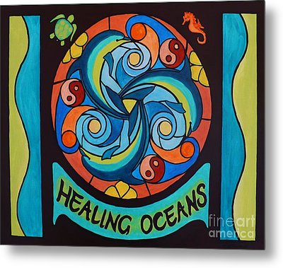 Metal Print featuring the painting Healing Oceans by Janet McDonald