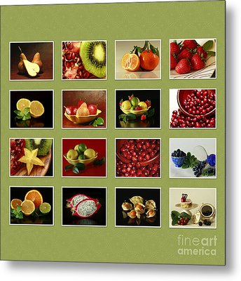 Healthy International Fruits Collection Metal Print by Inspired Nature Photography Fine Art Photography