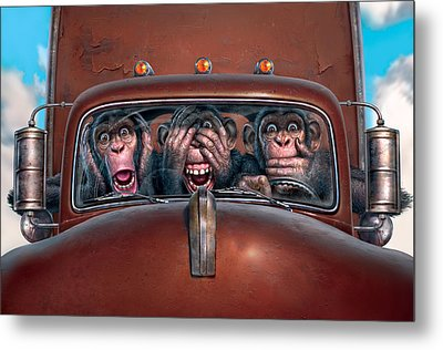 Hear No Evil See No Evil Speak No Evil Metal Print