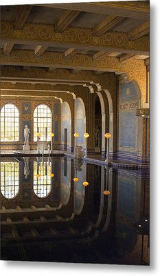 Hearst Castle Roman Pool Reflection Metal Print