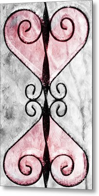 Heart 2 Heart Metal Print by Andee Design