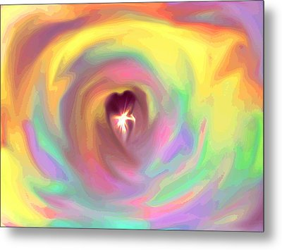 Heart Abstract Metal Print by Marianna Mills