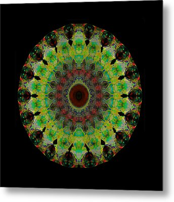 Heart Aura - Mandala Art By Sharon Cummings Metal Print