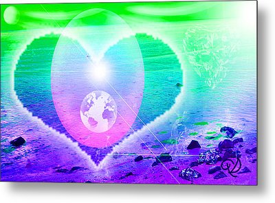 Heart Beach Metal Print