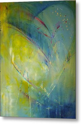 Metal Print featuring the painting Heart Beat by Eleatta Diver