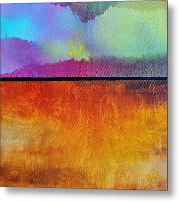 Metal Print featuring the painting Heart Call by Christine Ricker Brandt