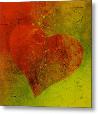 Heart Connections Three Metal Print