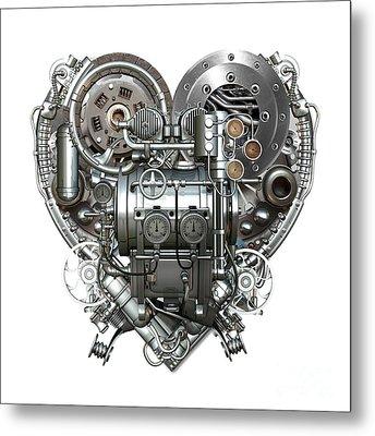 Heart Metal Print by Diuno Ashlee