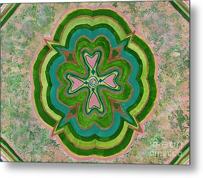 Heart Flower Metal Print