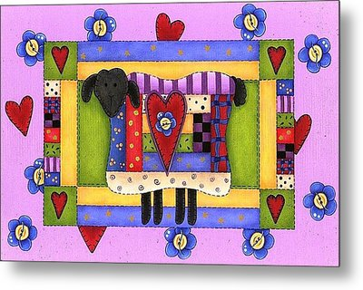 Heart For Ewe Metal Print by Tracy Campbell