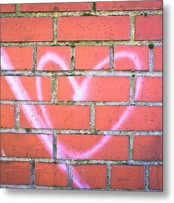 Heart Graffiti Metal Print by Tom Gowanlock