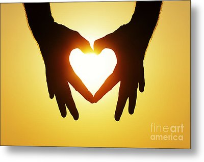 Heart Hands Metal Print