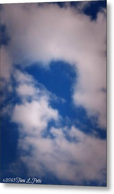 Metal Print featuring the photograph Heart In The Clouds by Tara Potts