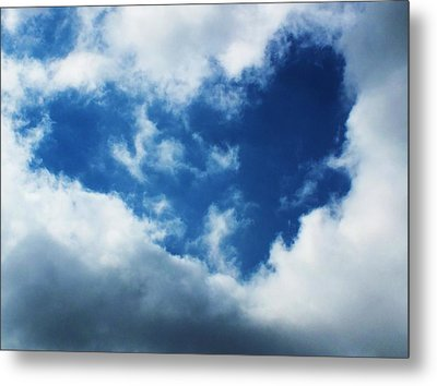Heart In The Sky Metal Print by Anna Villarreal Garbis