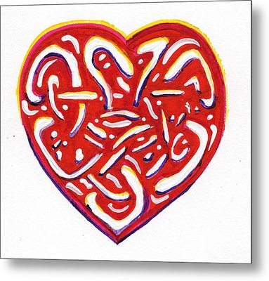 Heart Intertwined Metal Print