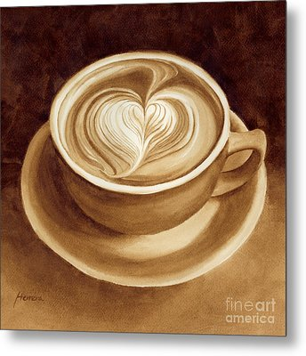 Heart Latte II Metal Print
