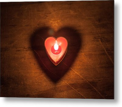 Metal Print featuring the photograph Heart Light by Aaron Aldrich
