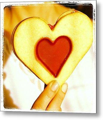 Heart Love Cookie Metal Print