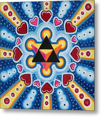 Heart Merkaba Metal Print by Christopher Sheehan