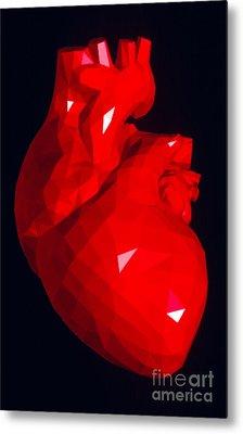 Heart Model Metal Print