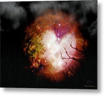Heart Planet Metal Print