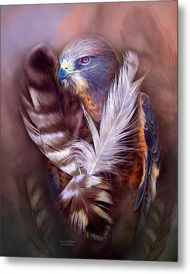 Heart Of A Hawk Metal Print by Carol Cavalaris