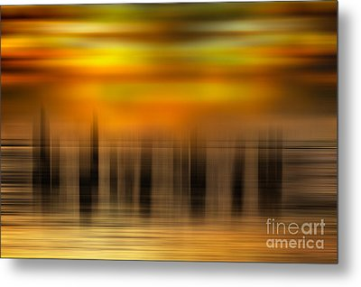 Heart Of Gold - A Tranquil Moments Landscape Metal Print by Dan Carmichael