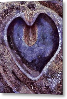 Heart Of Stone Metal Print by Gun Legler