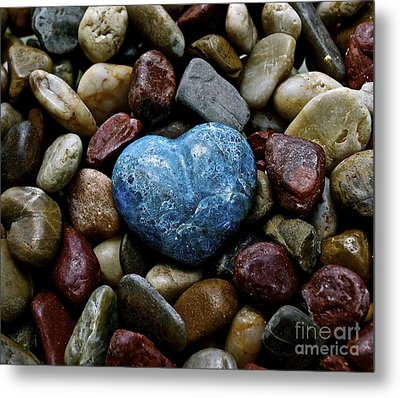 Heart Of Stone Metal Print by Lisa  Telquist