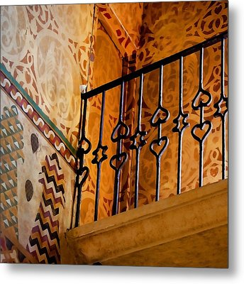 Heart Railing Metal Print