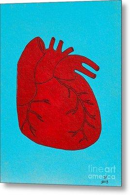 Heart Red Metal Print