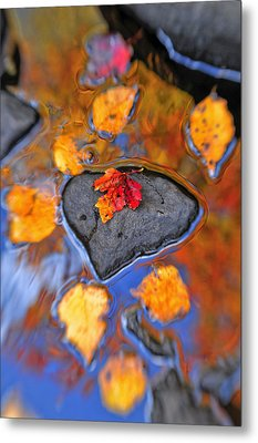 Heart Rock Reflections Metal Print by Joseph Rossbach