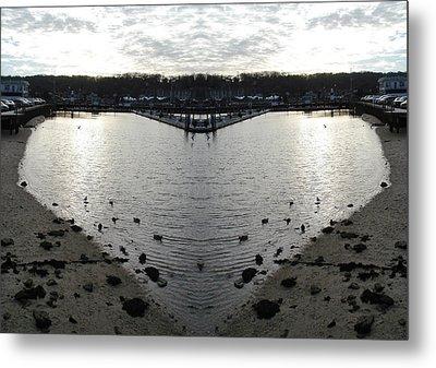 Heart  Shape In The Harbor Metal Print