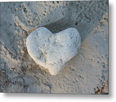 Heart Stone Photography Metal Print