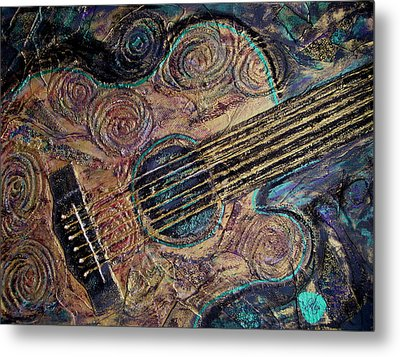 Heart Strings Metal Print