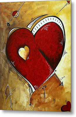 Heartbeat By Madart Metal Print by Megan Duncanson