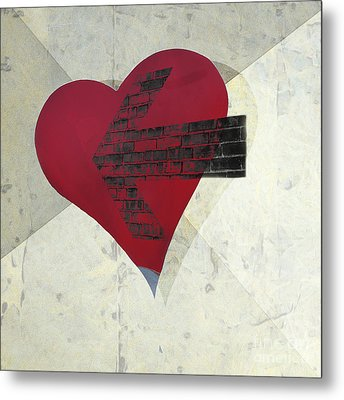 Hearts 7 Square Metal Print by Edward Fielding